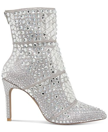 Steve Madden Women's Crossing Rhinestone Booties & Reviews - Boots - Shoes - Macy's