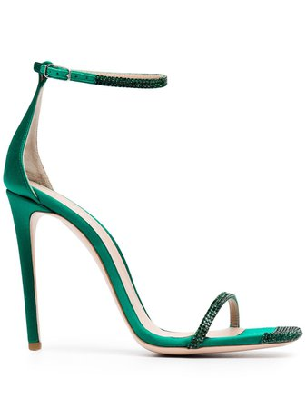 Sebastian Milano Embellished Sandals S8331RFE Green | Farfetch
