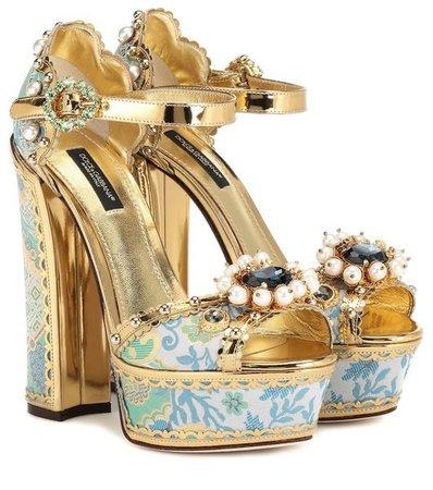 Embellished Plateau Sandals - Dolce & Gabbana