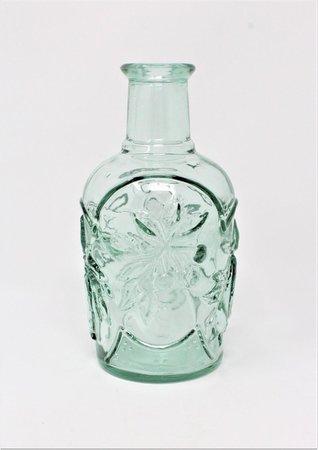 Vintage Glass Bottle Green / Aqua Seafoam Green Glass   Etsy