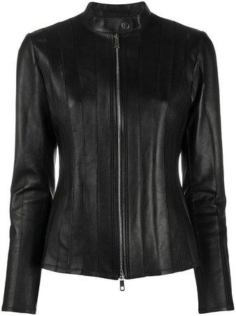 Desa 1972 Zipped Leather Jacket K9537LP Black   Farfetch