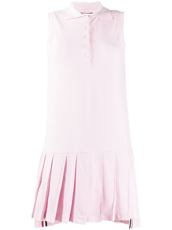 Thom Browne Collared Pleated Tennis Dress - Farfetch