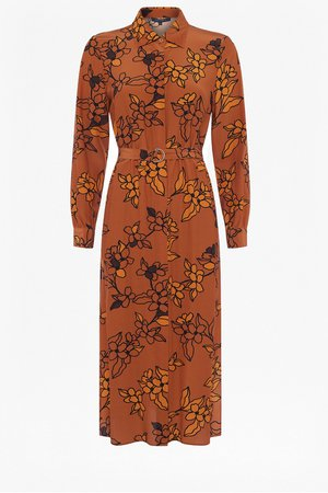 Cefara Drape Printed Shirt Dress | New Arrivals | French Connection