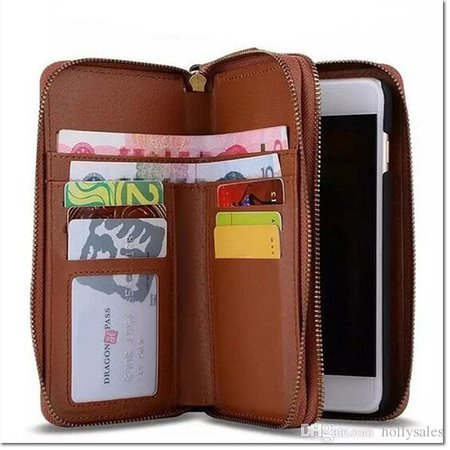 Brand Double Zipper Men Wallet