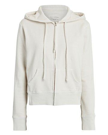 Nili Lotan Callie Zip-Up Hooded Sweatshirt | INTERMIX®