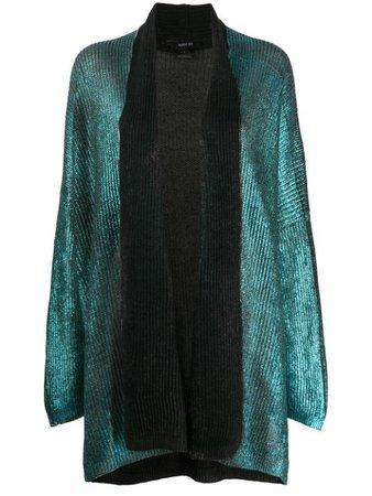 Avant Toi shawl-lapel Metallic Cardigan - Farfetch