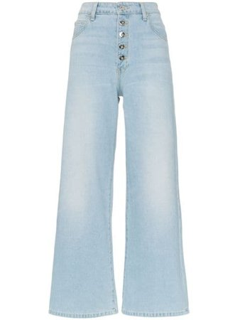 Eve Denim Charlotte Button Down Flared Leg Jeans Ss19 | Farfetch.Com