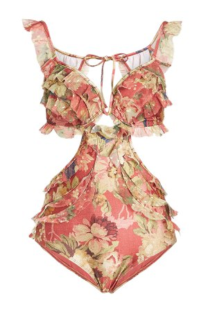 Melody Frill Off Shoulder Swimsuit Gr. 2