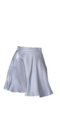 Powder Blue satin skirt