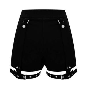 black garter shorts