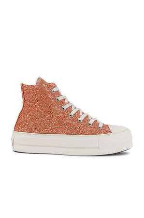 Converse Chuck Taylor All Star Lift Hi Sneaker in Healing Clay, Light Gold, & Vintage White   REVOLVE