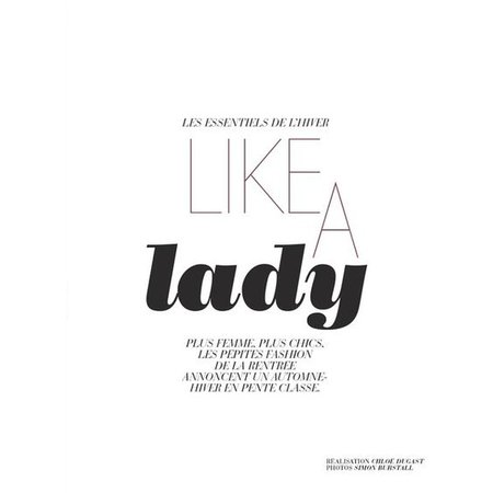 Like A Lady Editorial Text