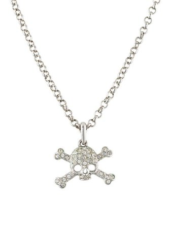 Vivienne Westwood Crystal Skull Pendant Necklace - Necklaces - VIV21986 | The RealReal
