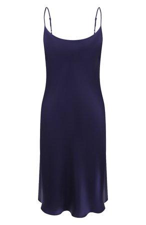 Женская темно-синяя шелковая сорочка LUNA DI SETA — купить за 23040 руб. в интернет-магазине ЦУМ, арт. L630088_9217