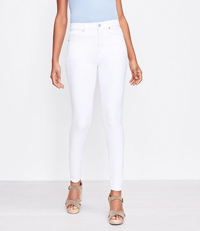 The Curvy High Waist Skinny Jean in White