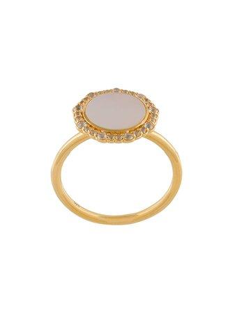 Astley Clarke Mother of Pearl Luna ring - FARFETCH