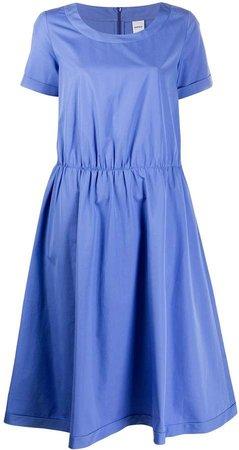 Short-Sleeved Flared Dress