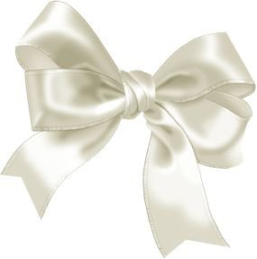 white bow satin ribbon png filler