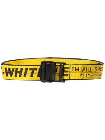 Off-White Logo Industrial Belt OWRB009E192230986010 Yellow   Farfetch