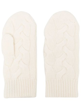 N.Peal cable-knit Cashmere Mittens - Farfetch