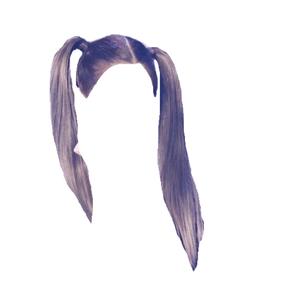 brown hair png pigtails