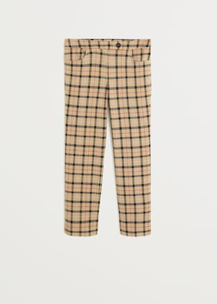 Straight checkered trousers - Women | Mango USA