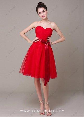 Sweetheart Neckline Knee-length A-line Dress