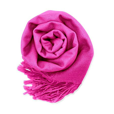 Soft Pashmina Scarf for Women Shawl Wrap Scarves Lady Women's Scarfs in Solid Colors - Hot Pink at Amazon Women's Clothing store