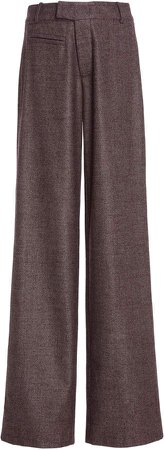 Zeynep Arcay Wool-Silk Wide-Leg Pants