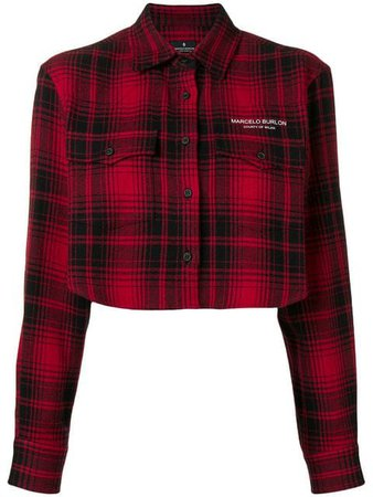Marcelo Burlon County Of Milan Cropped Checked Jacket - Farfetch