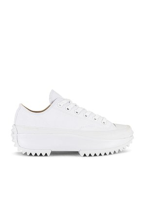 Converse Run Star Hike Platform All White Sneaker in White   REVOLVE