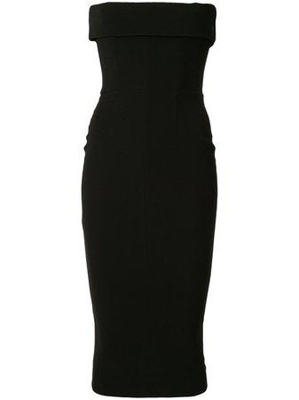 Black Alex Perry Moore Strapless Cocktail Dress   Farfetch.com