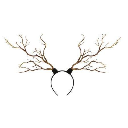 Vintage Tree Branches Headband Props Horns Hair Accessory Xmas Antler Costume Cosplay - Walmart.com