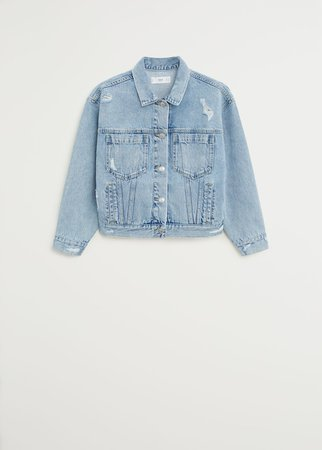 Faded denim jacket - Women | Mango USA