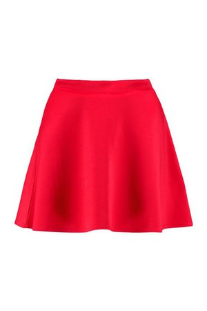 Petite Colour Pop Skater Skirt | Boohoo
