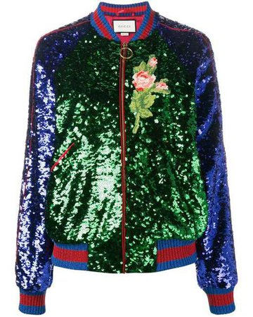 Sequin Gucci Bomber Jacket