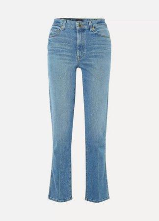 Victoria High-rise Straight-leg Jeans - Indigo