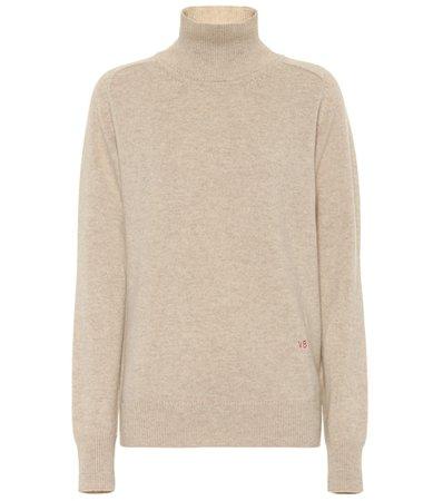 Stretch cashmere turtleneck sweater