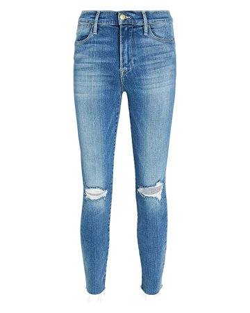 FRAME Le High Skinny Cropped Jeans   INTERMIX®