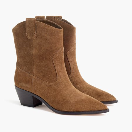 J.Crew: Western Boots In Suede