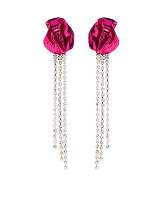 Sterling King Georgia crystal-embellished Drop Earrings - Farfetch