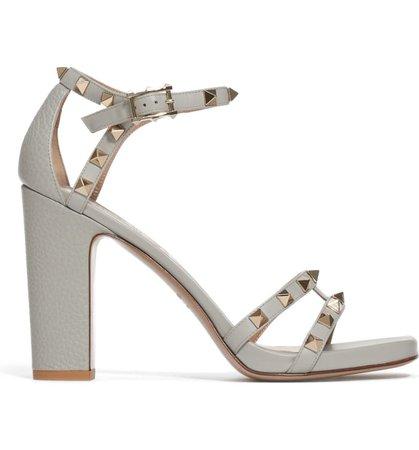 Valentino Rockstud Block Heel Sandal (Women) | Nordstrom