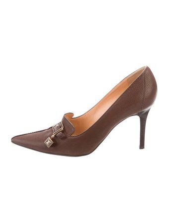 Louis Vuitton Leather Point-Toe Pumps - Shoes - LOU224988 | The RealReal