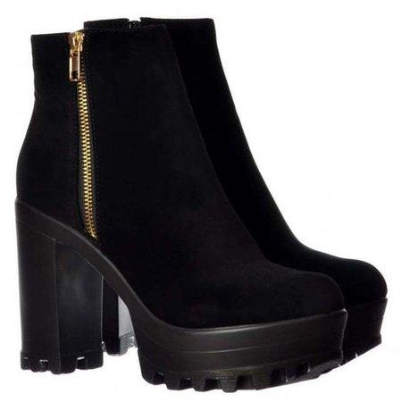Onlineshoe High Heel Platform Ankle Boots