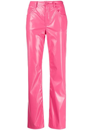 MM6 Maison Margiela Glossy straight-leg Trousers - Farfetch