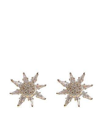 BONDEYE JEWELRY 14kt Gold Diamond Topaz Calypso Stud Earrings - Farfetch