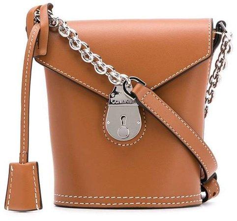 Push Lock Shoulder Bag