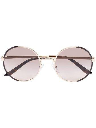Prada Eyewear round-frame gradient-lens Sunglasses - Farfetch
