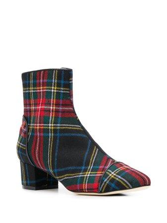 Polly Plume Tartan Ankle Boots | Farfetch.com