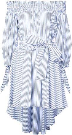 Caroline Constas striped off the shoulder dress